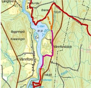 Karta vandringsleden